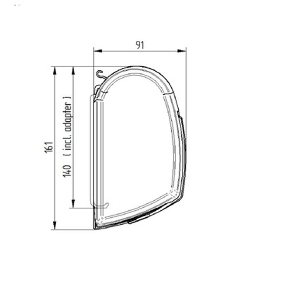 Thule 5200 3m Sapphire Blue Wall Mounted Awning Wiring Diagram Rcd 240v For A Caravan 4m Mystic Grey