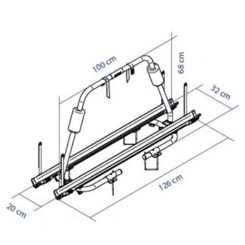 Thule A Frame Caravan Light Bike Rack