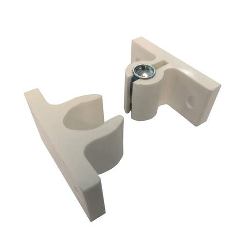 RVSC White Square 40mm high Door Retainer