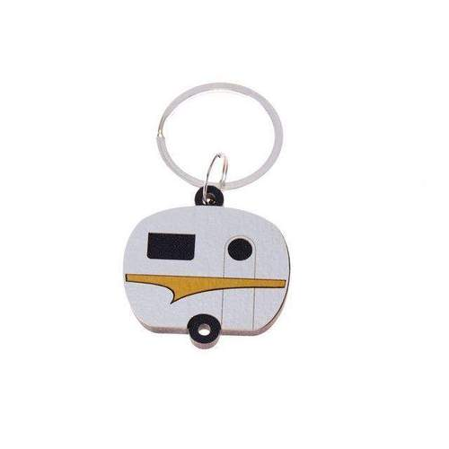 Keepers Caravan Yellow Keyring