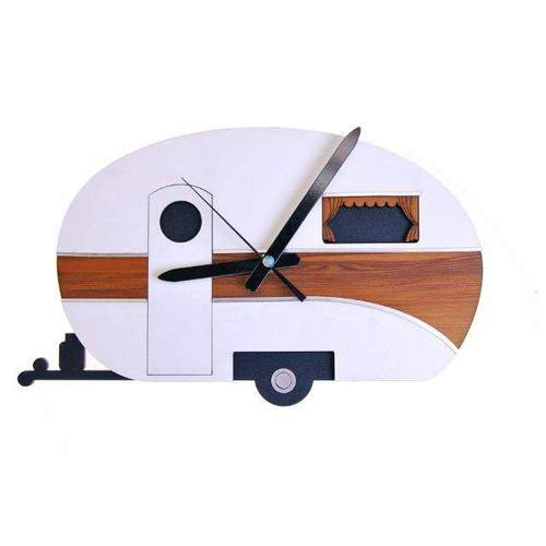 Keepers Caravan Rimu Clock