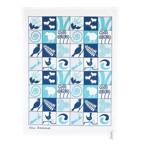 Essents Blue Kiwiana Tea Towel