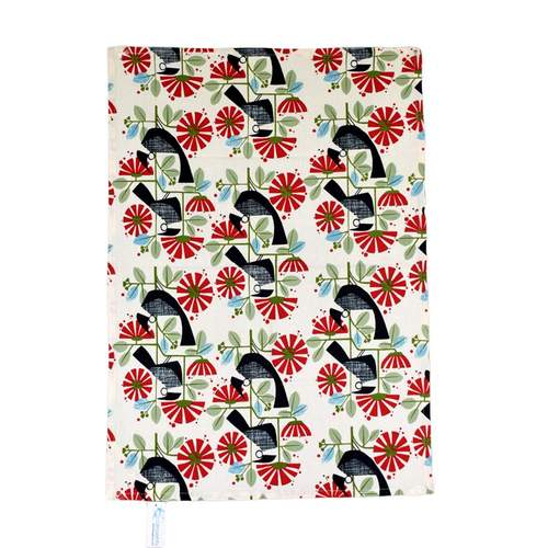 Essents Red Tui Tea Towel***