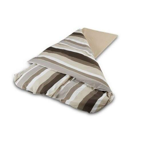 Duvalay Luxury Sleeping Bag- Coffee and Cream 66cm