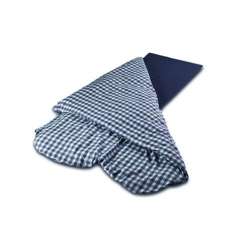 Duvalay Luxury Sleeping Bag - Navy Check 77cm