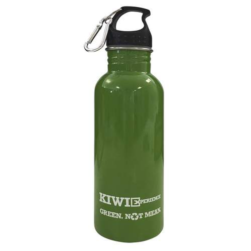 Kiwi Experience 750ml Stainless Steel Green Drink Bottle