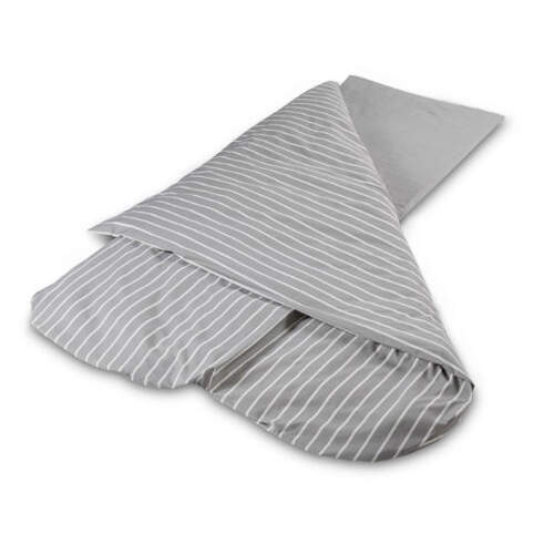 Duvalay Luxury Sleeping Bag - Gray Stripe 77cm