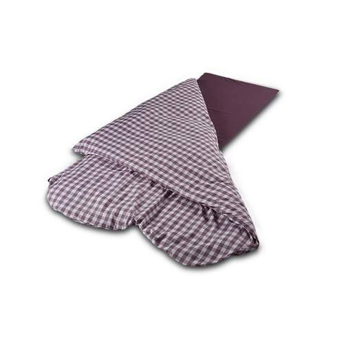 Duvalay Luxury Sleeping Bag - Plum Check 77cm