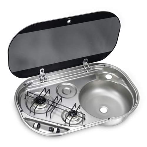 Dometic 2 Burner Hob/Sink Combo