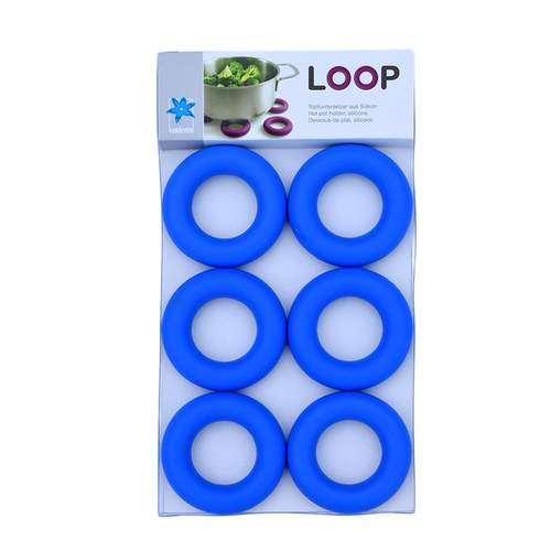Loop Blue 6 Egg Cups And/Or Pot Stands