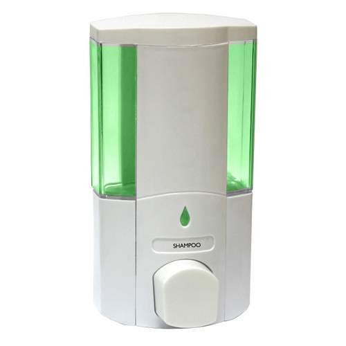 Camec White Single Shower Soap Dispenser