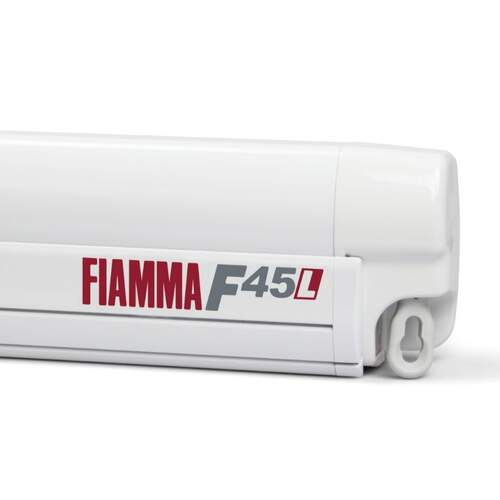 Fiamma F45L 5.0m Wall Mounted Awning Royal Grey - Polar White Case