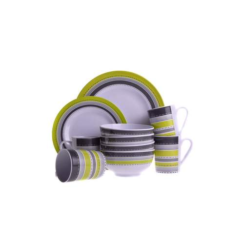Melamine Essentials Metro Lime 16pc Dinner Set