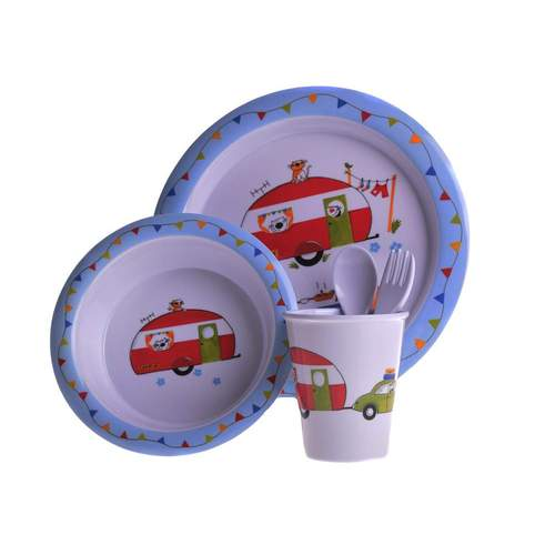Flamefield Charlie and Friends Childrens Melamine Dinner Set