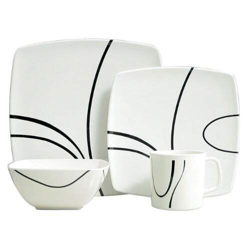 Melamine Essentials Zen Design 16 piece Dinner Set