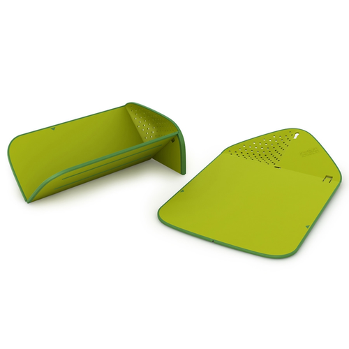 Joseph Rinse and Chop Plus Folding Chopping Board with Colander