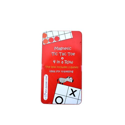 Purple Cow Tic Tac Toe Magnetic Travel Game