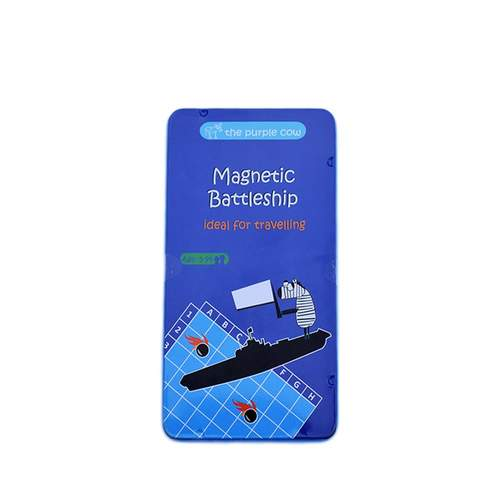 Purple Cow Battleship Magnetic Travel Game