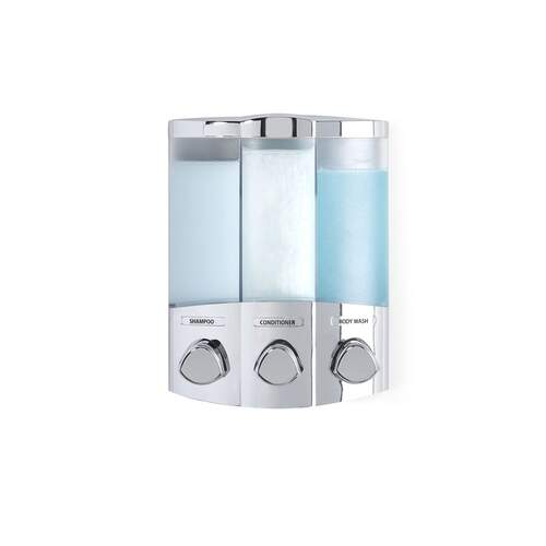 Aviva Trio Chrome Corner Shower Soap Dispenser