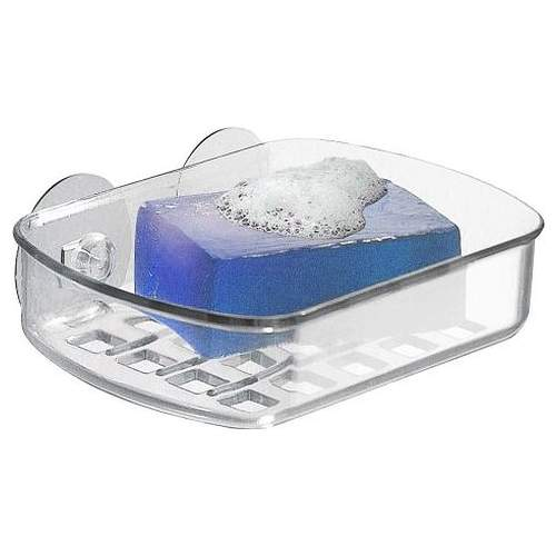 InterDesign Clear Plastic Suction Soap Holder