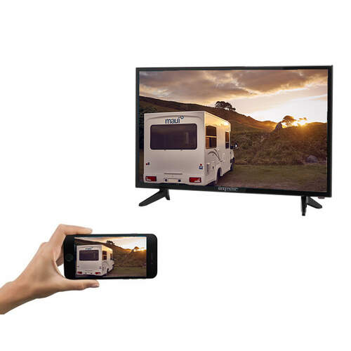 "Majestic 32"" LED Satellite TV/DVD with Smart Phone Interface"