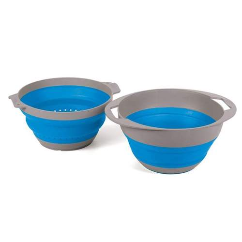 Companion Pop-Up Blue Colander and Bowl
