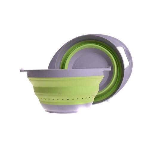Companion Pop-Up Green Colander and Bowl