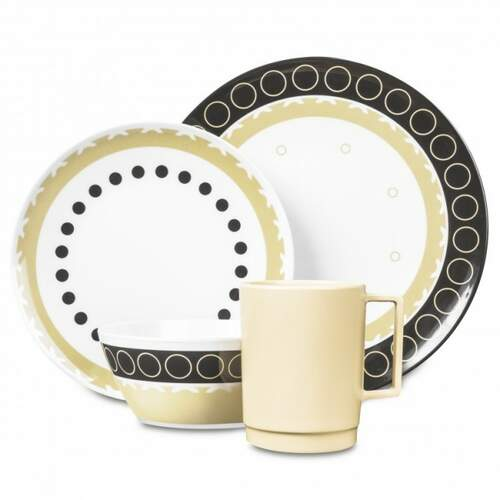 Campfire Melamine 16 Piece Dinner Set  - Mocha