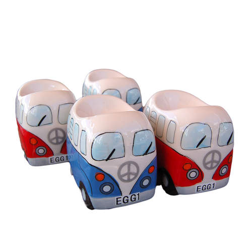 Dakota Red and Blue Egg Cups 4pk