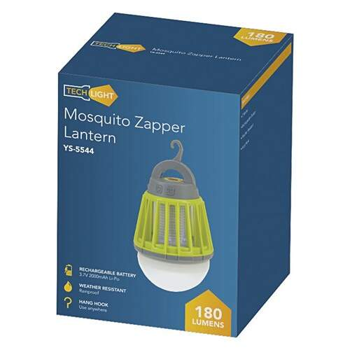 Techlight LED Lantern with Bug Zapper -  180 Lumens