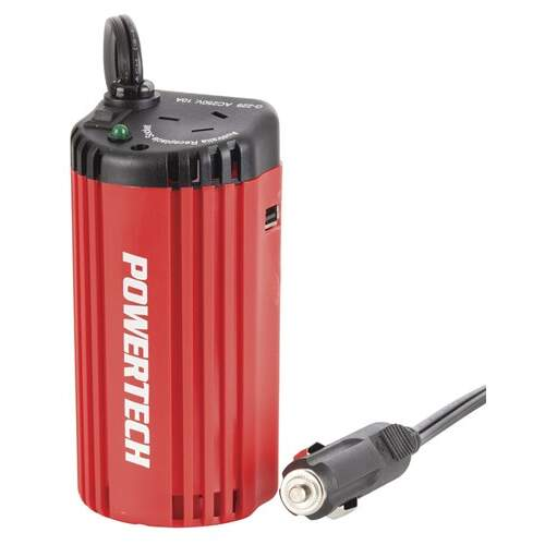Powertech 150W Can-Sized Power Inverter with 2.1A USB Output