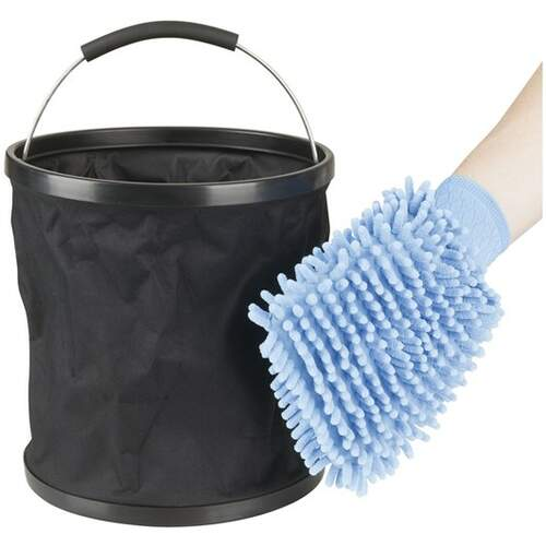 RVSC Collapsible 11L Bucket and Wash Mitt Kit