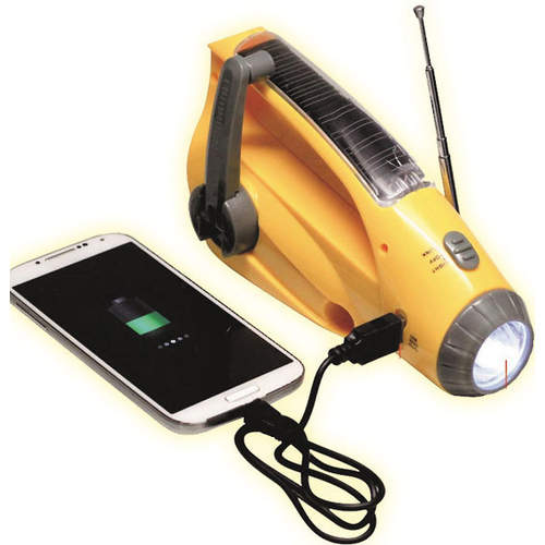 B-Safe Solar Dynamo Radio and Flashlight