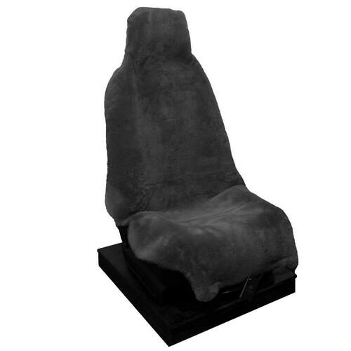 Classic NZ Car Seat Cover - Short Wool Grey