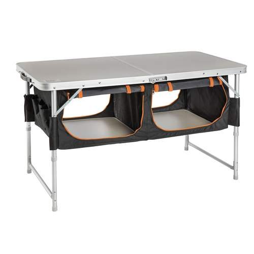 Kiwi Camping Quick Fold Bi-Fold Table with Pantry
