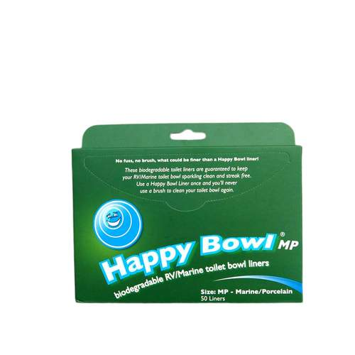 Happy Bowl Marine/Porcelain 50pk Toilet Bowl Liner