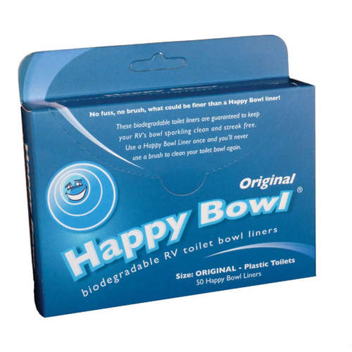Happy Bowl Blue 50pk Toilet Bowl Liner