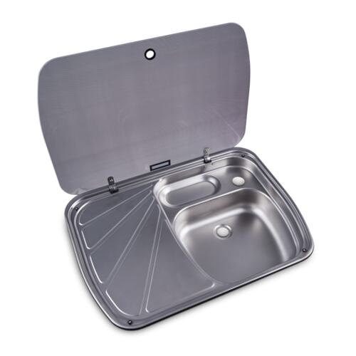 Dometic Sink/LH Drainer Combo with Glass Lid 600 x 445mm