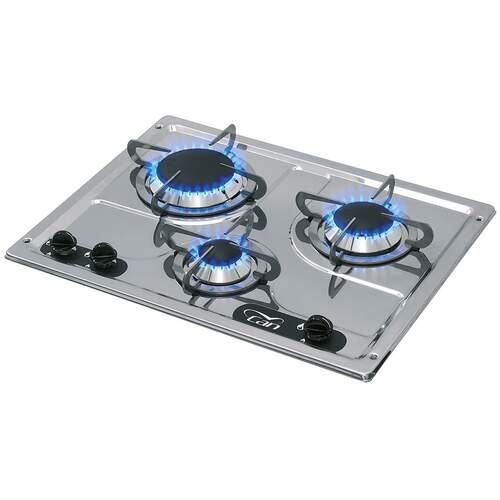 CAN 3 Burner Gas Hob Stainless Steel Marine