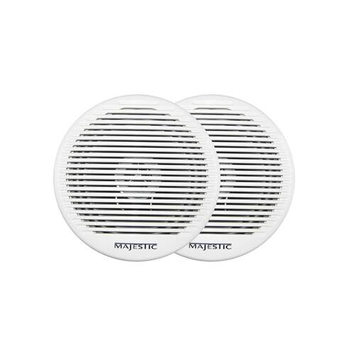"Majestic Outdoor Speakers Dual Cone 6"" White 2pk"