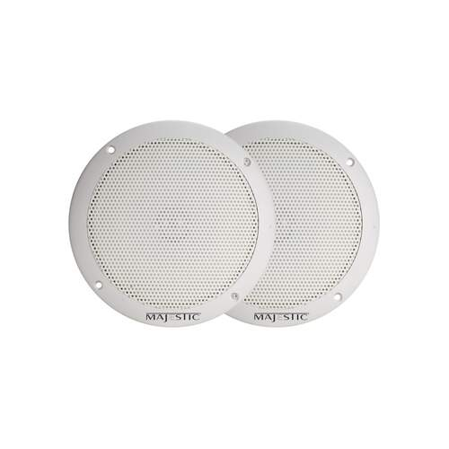 "Majestic Ultra Slim Water Resistant Speaker 5"" - White (2pk)"