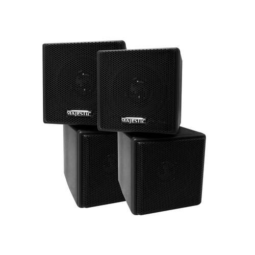 Majestic Internal Cube Speakers Black 2pk