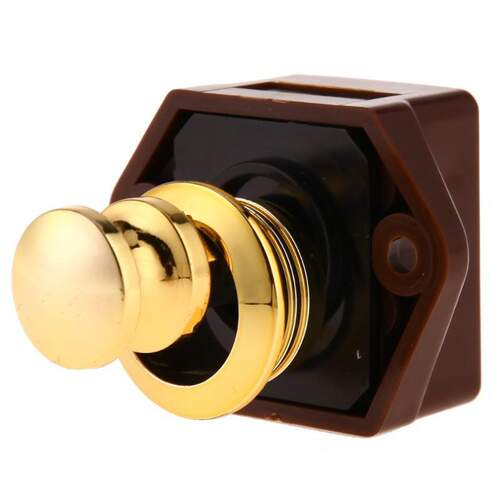 Push Lock Kit Mini - Brass Plated Polished Finish