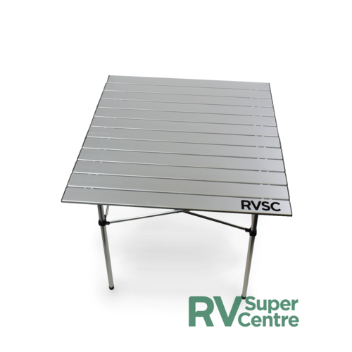 RVSC Collapsible Camping Table with Slat Top 700 x 700mm