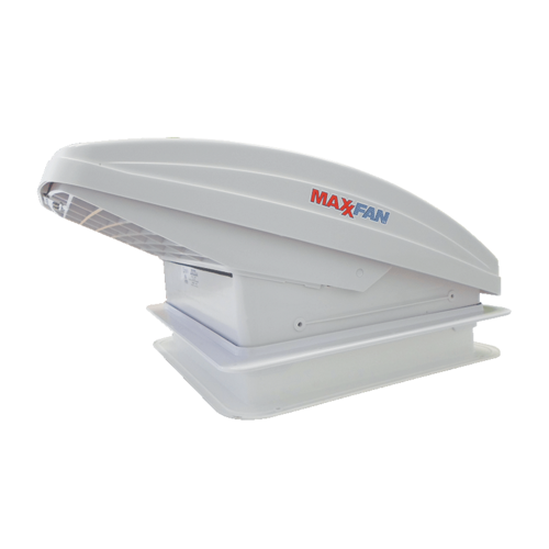 MaxxAir Maxxfan Deluxe Vent with 10 Speed Fan Power Lift Remote