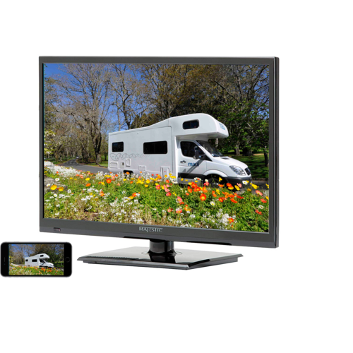 "Majestic 22"" LED Satellite TV/DVD with Smart Phone Interface"