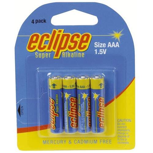 Eclipse AAA Alkaline Batteries - 4pk