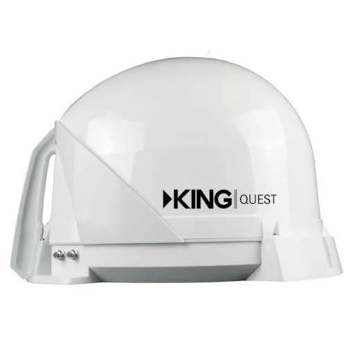 King Quest Automatic Satellite Dish White