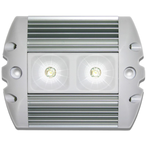 Labcraft Superlux LED Awning Light Silver/White Finish 624 Lumens - Cool White