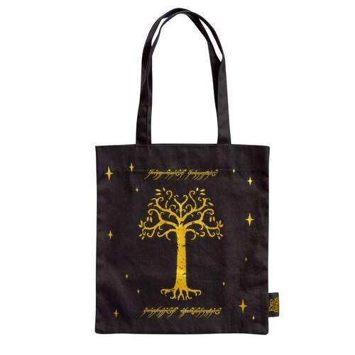 Lord of the Rings Tote Bag Tree Of Gondor Black
